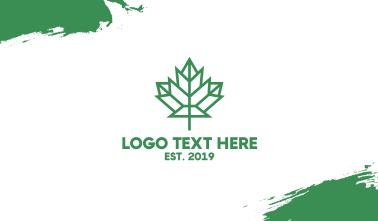 Polygon Canada Leaf Business Card