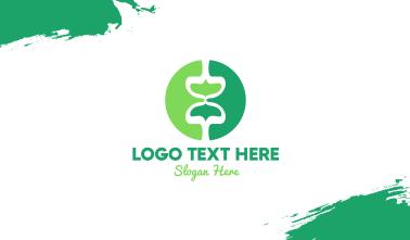 Green Mushroom Hourglass Business Card