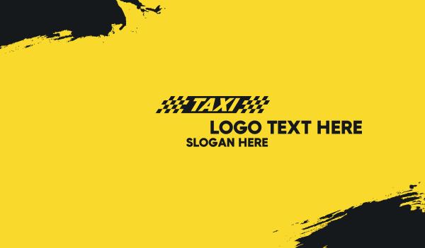 trip - Taxi Cab Business card horizontal design