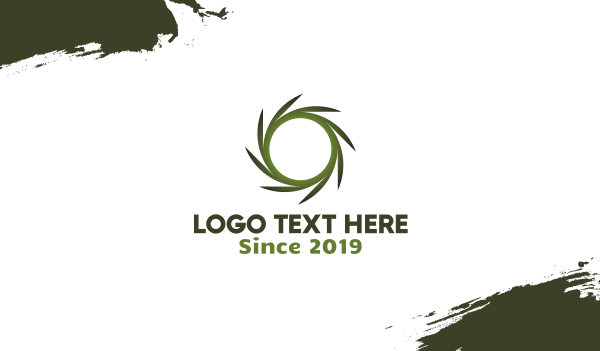 green circle - Nature Circle Business card horizontal design