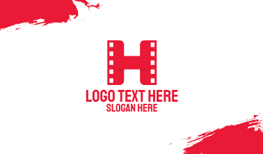 Red Film H Business Card
