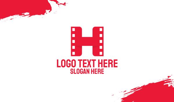 reel - Red Film H Business card horizontal design