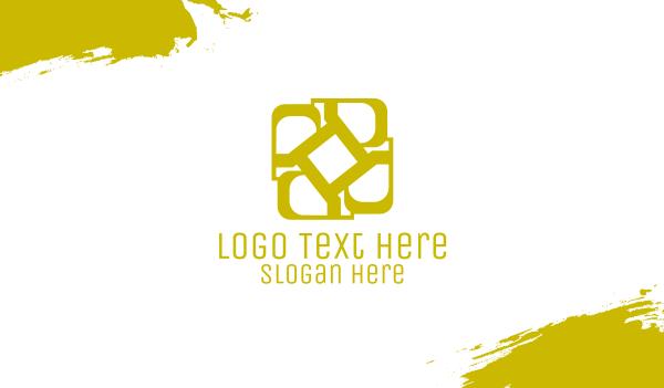 jewelry - Golden Elegant D Monogram Business card horizontal design