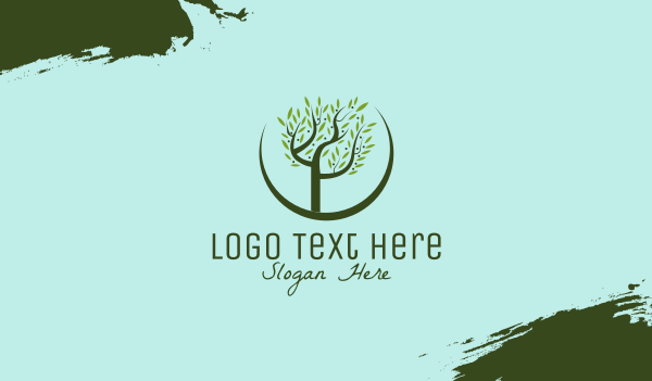 athens - Olive Tree Business card horizontal design