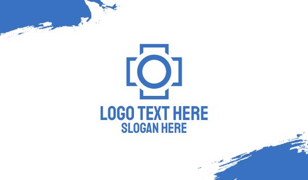drug store - Medical Imaging Camera Cross Business card horizontal design