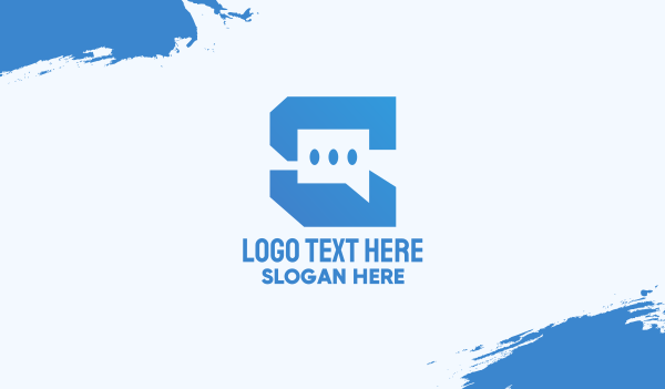 texting app - Technology Chat App Business card horizontal design
