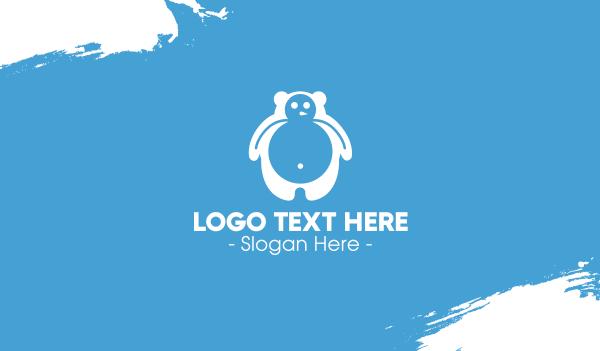 yeti - Winter Bear Business card horizontal design