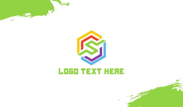 rainbow - Rainbow Polygon S Business card horizontal design