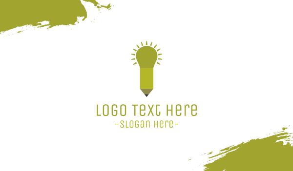 think tank - Pencil Light  Business card horizontal design