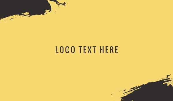 stencil - Industrial Stencil Business card horizontal design