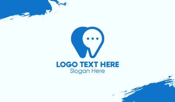 dental clinic - Blue Dental Chat App Business card horizontal design