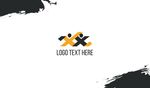 headhunter - Letter X Couple Business card horizontal design