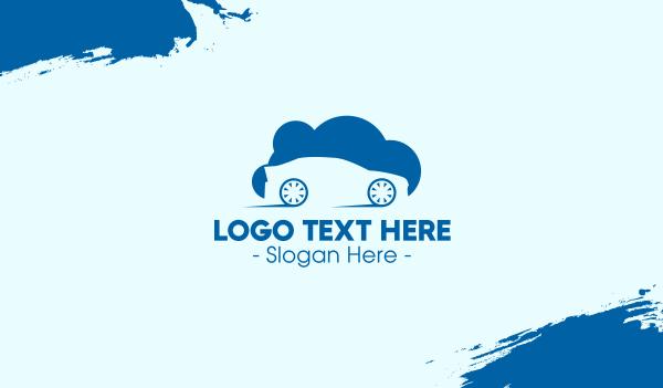 hybrid - Automobile Cloud Business card horizontal design