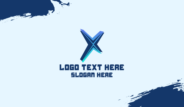 Gaming Tech Letter X Business Card