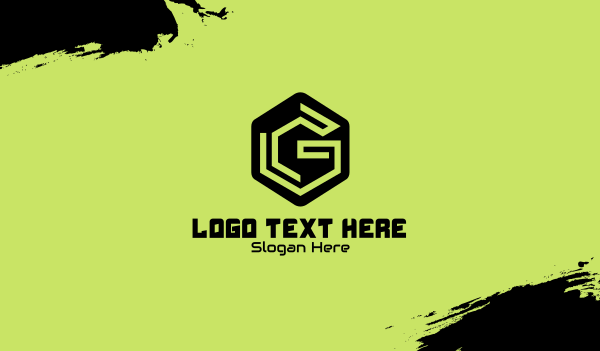 app development - Hexagon Gaming Letter G Business card horizontal design