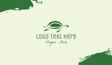 Simple Green Turtle Business Card