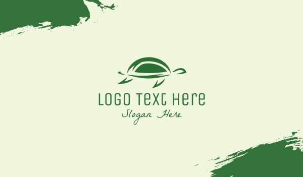 green turtle - Simple Green Turtle Business card horizontal design