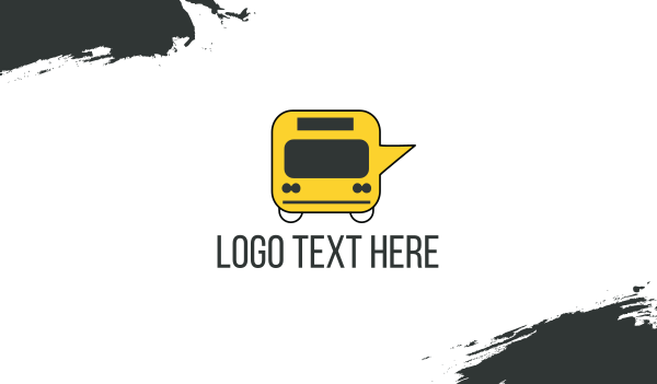 bargain - Message Bus Business card horizontal design