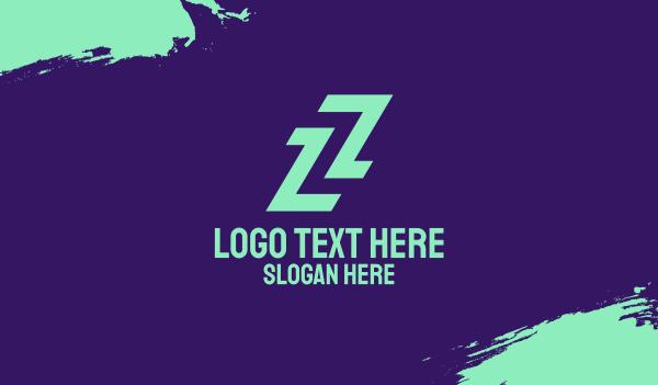 sporty - Sporty Letter Z Business card horizontal design