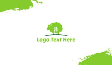 Green Lamb Business Card