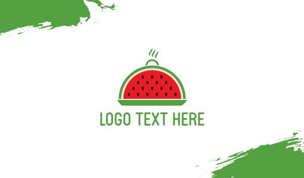 dish - Watermelon Tray Business card horizontal design
