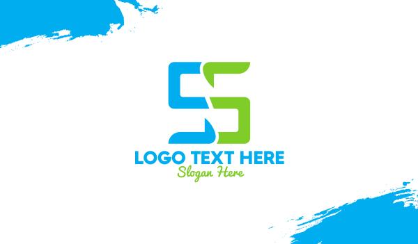 devices - Digital Letter S Business card horizontal design