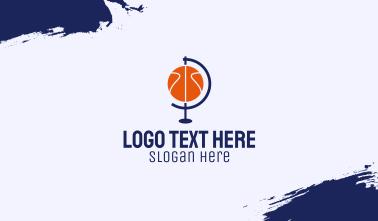 Basketball Globe  Business Card