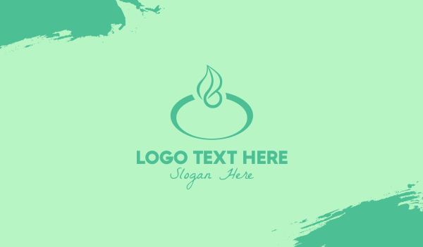 ellipse - Green Leaf Business card horizontal design