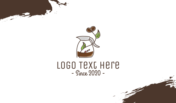 brown cup - Stroke Coffee Brewing  Business card horizontal design