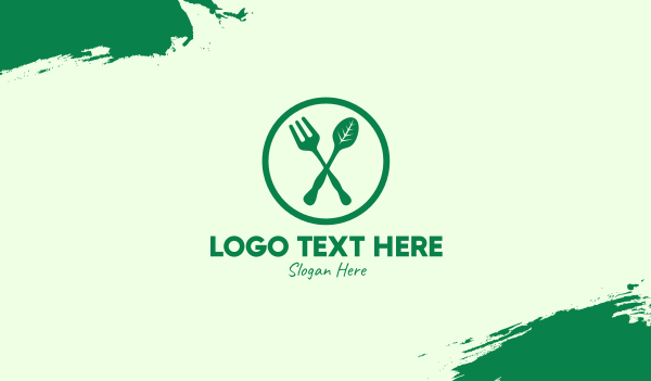 healthy food - Vegan Organic Resto Business card horizontal design