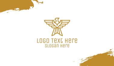 Golden Eagle Emblem Business Card