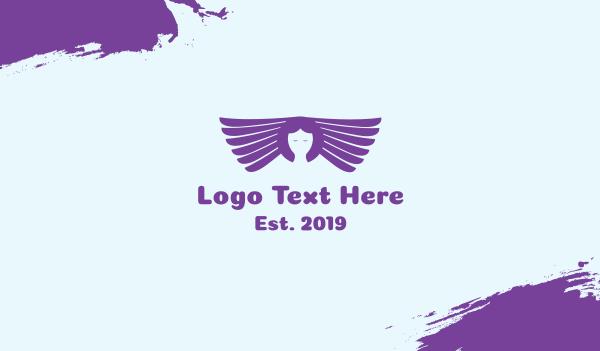 metaphysical - Purple Angel  Business card horizontal design