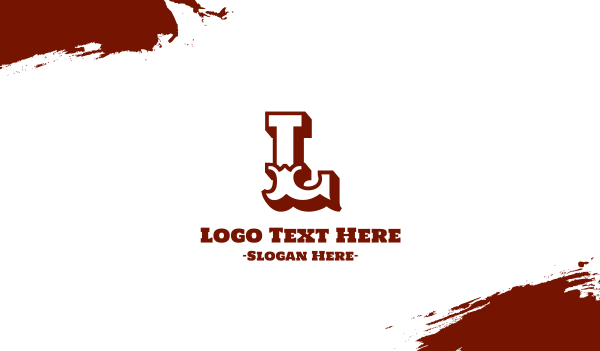 southern - Texas Cowboy Text Letter Font Business card horizontal design