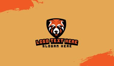 Orange Bear Mascot Business Card