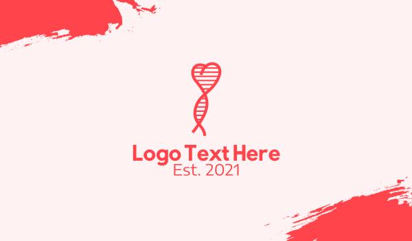 chemistry - Heart DNA Strand  Business card horizontal design
