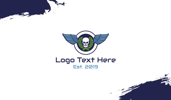 dogfight - Skull Wing Seal Business card horizontal design