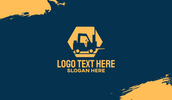 cargo delivery - Construction Forklift Business card horizontal design