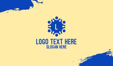Blue Children Lettermark Business Card