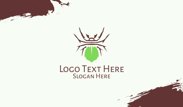 spider - Eco Spider Leaf Business card horizontal design