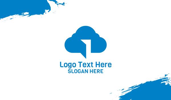forecast - Blue Cloud Door Business card horizontal design