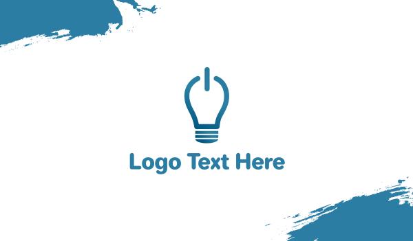 solar - Idea On Light Bulb Business card horizontal design
