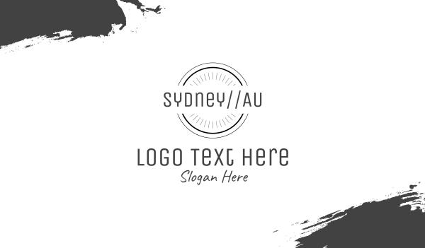 grey circle - Sydney Australia Business card horizontal design