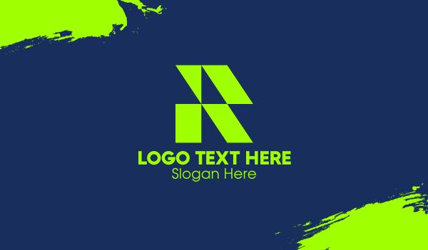 panel - Green Roofing IR Monogram Business card horizontal design
