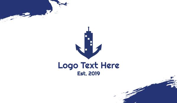 ship - Marine Tower Business card horizontal design