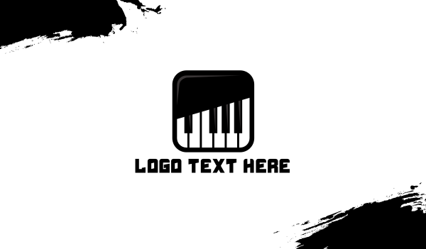 pianist - Piano Keys App Business card horizontal design