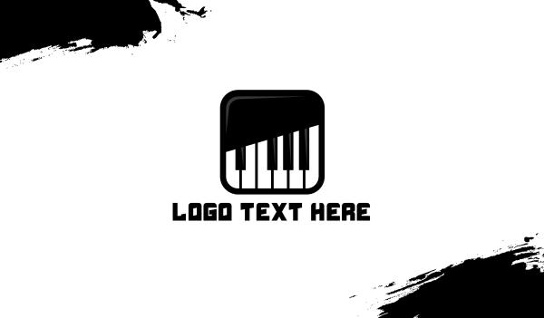 keyboard - Piano Keys App Business card horizontal design
