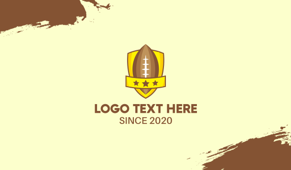 sports channel - American Football Team Shield Business card horizontal design