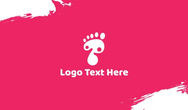 feet - Foot Business card horizontal design