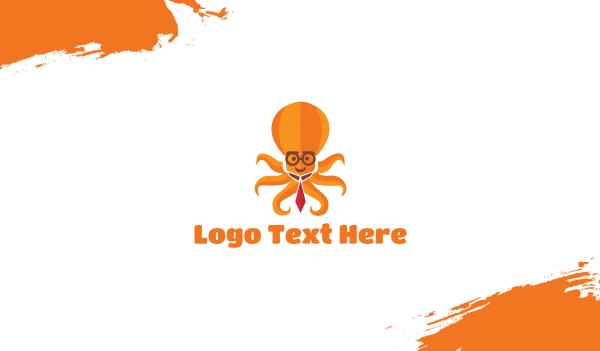 treasurer - Multitasking Octopus Business card horizontal design