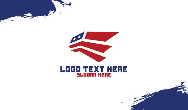 flight school - Abstract American Aviation Business card horizontal design